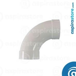 Curva PVC Ø51 FF 90° largo raggio bianco