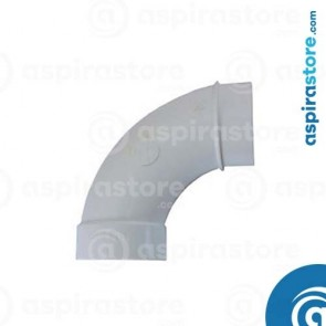 Curva PVC Ø51 MF 90° largo raggio bianco