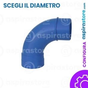 Curva PVC 90° largo raggio MF aspirazione centralizzata