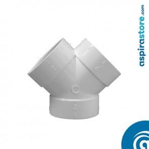 Derivazione biforcazione PVC bianco Ø51 FFF 45+45°