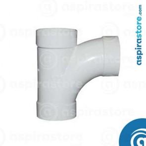 Derivazione PVC bianco Ø51 FF 90° largo raggio