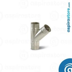 Derivazione 45° in acciaio zincato Ø60