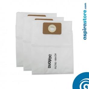 Filtro Duovac 189-DV sacchetto raccolta polveri 12 litri confezione da 3 pezzi