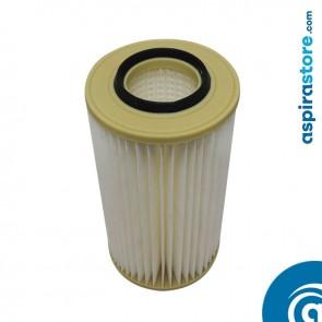 Filtro cartuccia in poliestere lavabile 34X18 Ø8 per aspirapolvere centralizzato Tecnonet MTN35, MTN45, MTN55