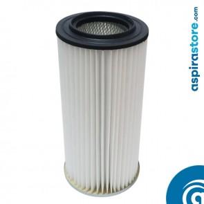 Filtro cartuccia in poliestere lavabile 45X22 Ø12,5 per aspirapolvere centralizzato Sistem Air SA200, SA300, SA400
