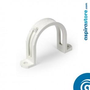 Graffetta per fissaggio tubo Ø51in PVC colore bianco