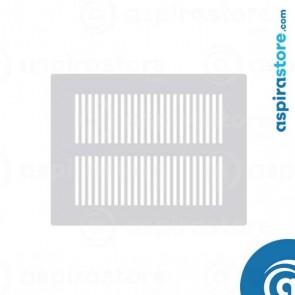 Griglia vmc 1006 rettangolare in lamiera design feritoie verticali