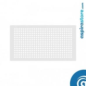 Griglia vmc 1509 rettangolare in lamiera fori tondi finitura bianco RAL 9010