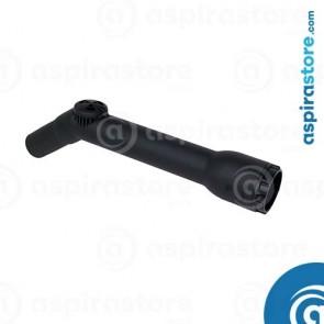 Impugnatura raccordo curvo in PVC con regolatore di pressione Ø32