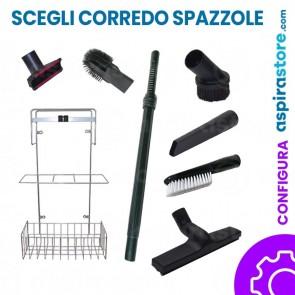 Kit solo spazzole Ø32 senza tubo flessibile per aspirazione centralizzata