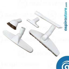 Kit 5 spazzole bianche HOME per aspirazione centralizzata Ø32