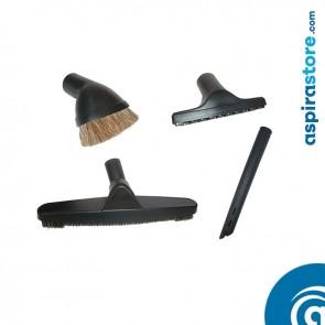 Set 4 spazzole bianche HOME Ø32 per aspirapolvere centralizzato