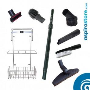 Kit accessori 6 spazzole Ø32 di cui spazzola per legno, asta e cestello
