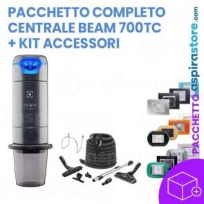 Pacchetto completo aspirapolvere centralizzato Beam Electrolux 700TC accessori e prese aspiranti