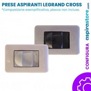 Composizione con placca presa aspirante per Legrand Cross