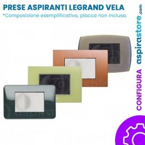 Composizione con placche presa aspirante per Legrand Vela