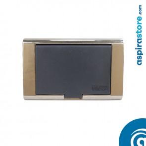Presa aspirante grigio chiaro serie classica automatica avvio con micro Ø32