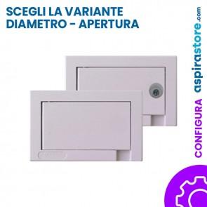 Presa aspirante Aertecnica Tech Active bianca Ø32 e Ø40