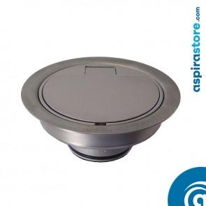 Presa Floor da pavimento in alluminio satinato senza micro diametro 40
