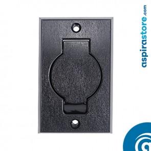 Presa aspirante monoblocco Round Door nero Ø32