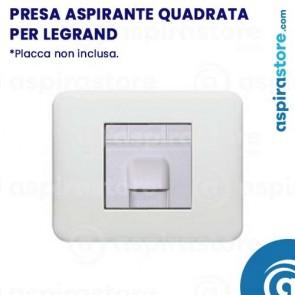 Presa aspirante quadrata 2 moduli per Legrand bianco