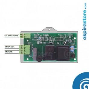 Schema di collegamento scheda elettronica universale per aspirapolvere centralizzato