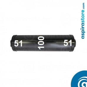 Silenziatore originale Beam con raccordi Ø51 colore nero
