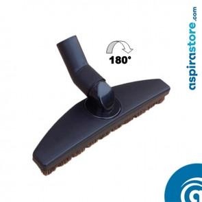 Spazzola snodata per legno e gres cm 30 snodo 180° setole crine naturali Ø32