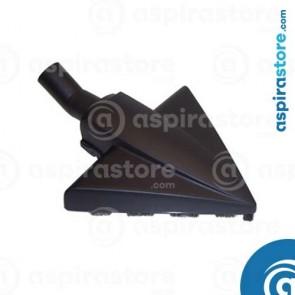 Spazzola triangolare per pavimenti con ruote e setole naturali Ø32