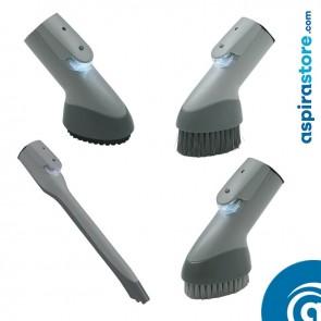 Set 4 spazzole aspirazione centralizzata Electrolux con LED attacco Ø32