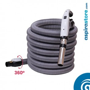 Tubo flessibile metri 9 ON-OFF per aspirapolvere centralizzato con interruttore e attacco girevole