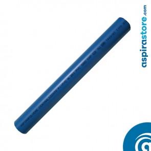 Tubo PVC Ø50 barra 2 mt colore blu per aspirazione centralizzata