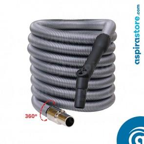 Tubo flessibile mt 6 standard per aspirazione centralizzata con regolatore di pressione Ø32
