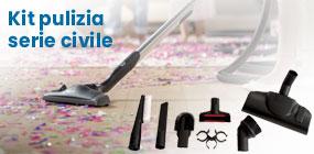 Kit accessori pulizia completi aspirapolvere centralizzato