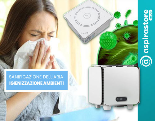 Guida alla sanificazione di aria e ambienti indoor nel blog di Aspirastore.com