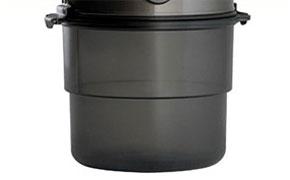 Contenitore polveri antimicrobico semitrasparente aspirapolvere Beam