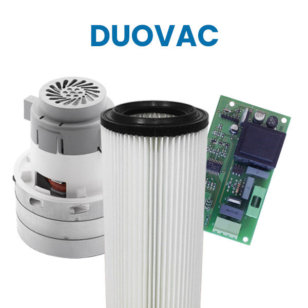 Acquista su Aspirastore.com i ricambi per aspirapolvere centralizzati Duovac