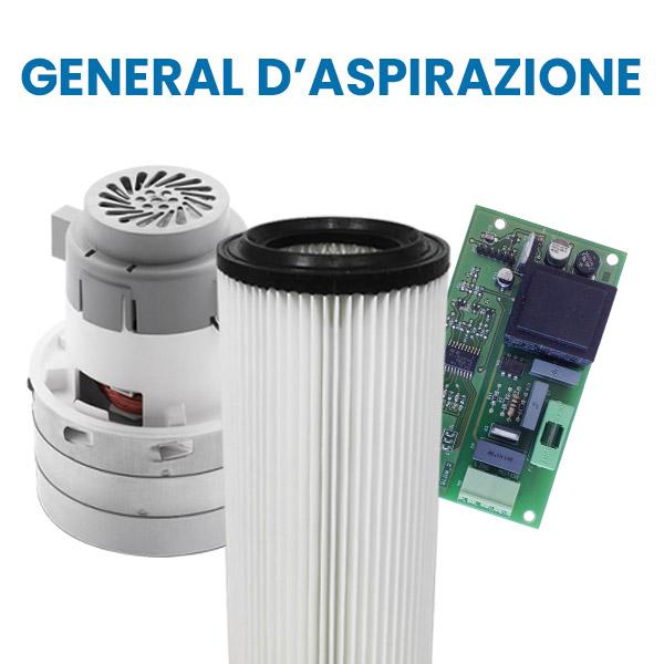 Acquista su Aspirastore.com i ricambi per aspirapolvere centralizzati General D'Aspirazione