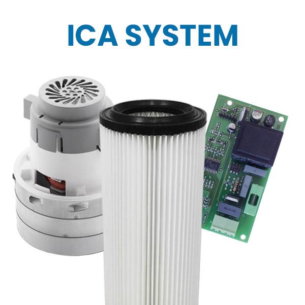 Acquista su Aspirastore.com i ricambi per aspirapolvere centralizzati ICA System