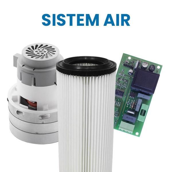 Acquista su Aspirastore.com i ricambi per aspirapolvere centralizzati Sistem Air