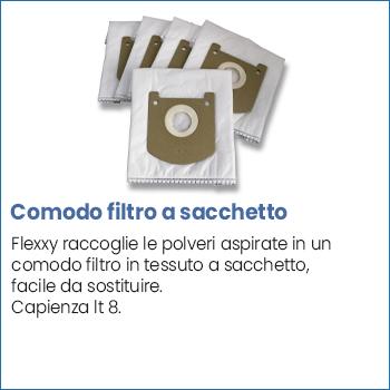 Filtro a sacchetto centrale aspirante Flexxy 24 V