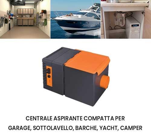 Centrale aspirante Flexxy 230V per garage sottolavello barche yacht camper