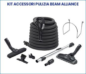 Kit accessori pulizia Beam Alliance pacchetto promozione aspirapolvere centralizzato