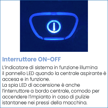 Interruttore ON-OFF centrale aspirante Beam Alliance 625SB