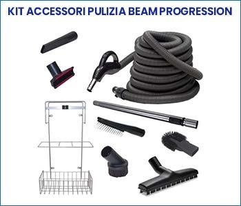 Kit accessori pulizia Beam Progression per pacchetto promozione aspirapolvere centralizzato