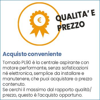 Miglior rapporto qualità-prezzo centrale aspirante Aspiredil Tornado PL90