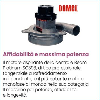 Motore aspirante Domel centrale aspirante Beam SC398