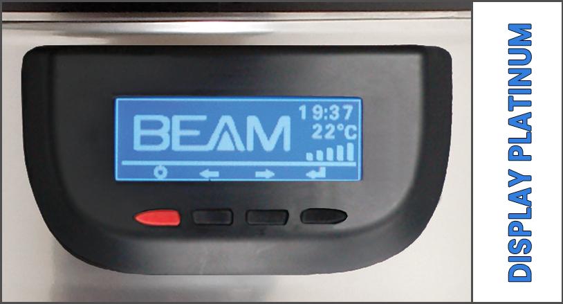 Display LCD centrale aspirante Beam Platinum