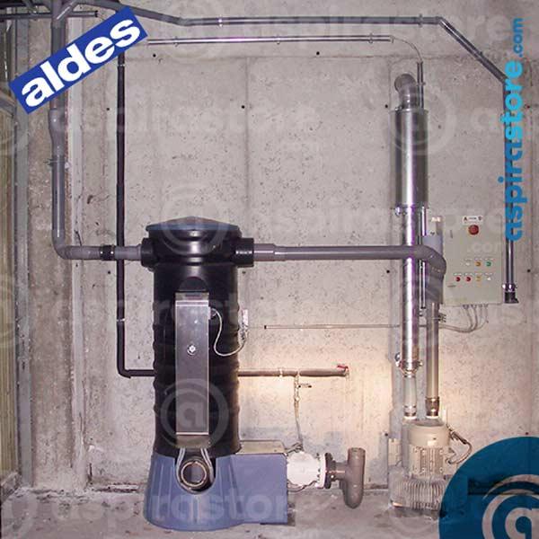 Impianto di aspirazione centralizzato professionale Aldes manutentato da Aspiredil