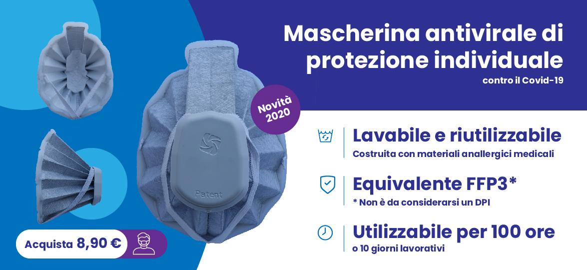 Mascherina facciale di protezione naso bocca da covid lavabile e riutilizzabile